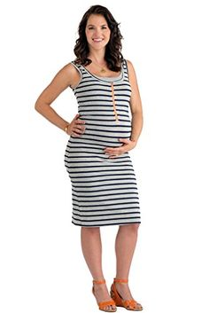 a74fd4ac103 Molly Ades Zippered Maternity Nursing Tank Dress at Amazon Women s Clothing  store