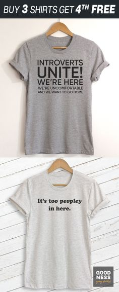 Shop for Funny, Sarcastic or Nerdy tees and tanks from Goodness Gray Shirts! ♥ Fun and stylish casual wear ♥