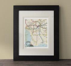 Los Angeles Map by BeautifulPeaceEtsy on Etsy, $24.00