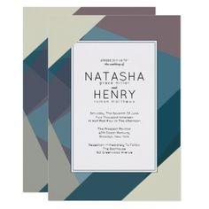 Modern Romantic Wedding Invitations - wedding invitations cards custom invitation card design marriage party