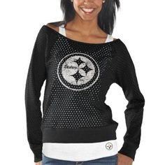 Pittsburgh Steelers Womens Holy Long Sleeve T-Shirt and Tank - Black