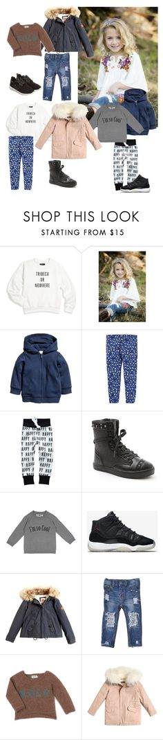 """""""Emma"""" by lilynnguyen on Polyvore featuring Knowlita, H&M, Baby Jogger, Numaé, NIKE, American Outfitters, Kale, Yves Salomon and Armani Junior"""