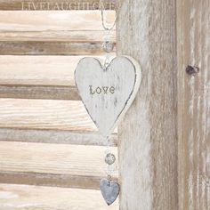 """Love"" Hanging Heart with mini Zinc Heart"