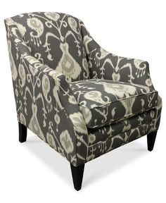 Tinsley Fabric Accent Chair, 30W x 35D x 36H - Chairs - furniture - Macys
