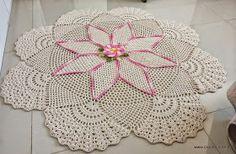 Artes Belas Crochet: Tapete redondo com gráfico