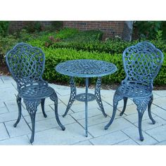 Oakland Living Mississippi 3-Piece Patio Bistro Set-2005-VGY - The Home Depot