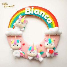 Fiocco nascita fai da te con unicorni   DIY birth ribbon with unicorns • #DIY #birthribbon #fiocconascita