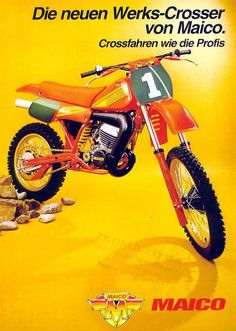 Vintage Maico Dirt Bike Ad.    I've always thought the old Maicos were really cool.