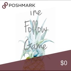 🌻🌷LIKE•FOLLOW•SHARE•TAG🌷🌻 Follow game! This is my first one so let's hope it goes well! ❤️ LIKE this post, FOLLOW everyone who likes this post (Don't forget me!!!), & then SHARE! Recheck for more followers! Happy Poshing! ☺️ Other