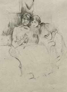 Women Painters - Berthe Morisot (French, 1841 - 1895): Sketching...
