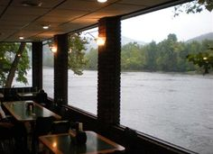 DQ in Hinton, WV - the food is not the greatest but the view is lovely. I ate lunch here with dad, once.