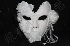 Купить Венецианские маски маскарад маски принцесса цветок кружева плюс мужчины и женщины перо полный маска белый порошоки другие товары категории Маски для вечеринокв магазине liugang9170 StoreнаAliExpress. порошок твердого и порошок из свежих