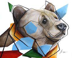 shapely bear 50x40 by SztuknijSie on Etsy