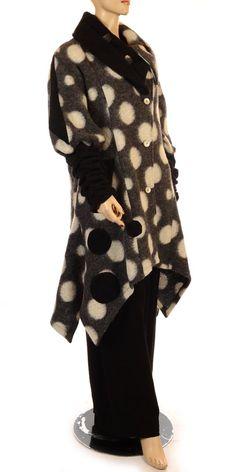 Oliver Jung Funky Chic Parisian Circles Winter Coat