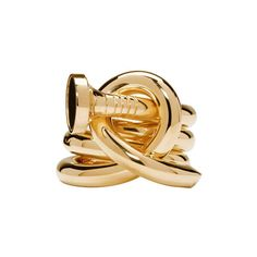 Ambush Gold Kugi 3 Ring (€1.035) ❤ liked on Polyvore featuring jewelry, rings, gold, handcrafted gold rings, wrap-around rings, hand crafted jewelry, gold tone jewelry and yellow gold jewelry