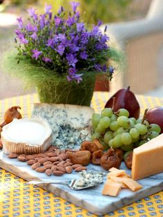 A well-rounded cheese platter is always a party pleaser.