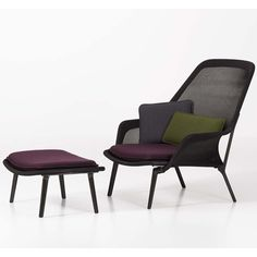 Slow Chair & Ottoman - Vitra, Color Marrón
