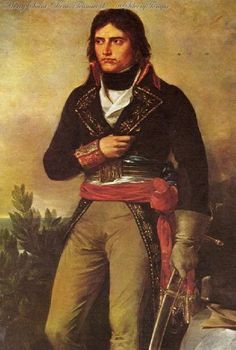 1836 - 'Napoléon Bonaparte, général en chef de l'Armée d'Italie' (posthumous idealized portrait by Sébastien Rouillard (French, 1789-1852)