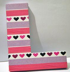 Letras decoradas con washi