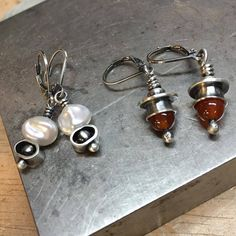 Had a late start but finished these little dangle earrings