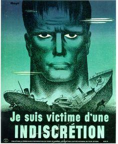 Affiche sur l'information, lors de la Deuxième Guerre mondiale 1943