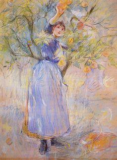 The Orange Picker, 1889 - Berthe Morisot
