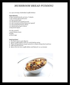 MAKE IT - Mushroom Bread Pudding