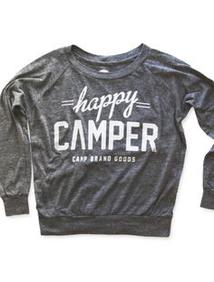 HAPPY CAMPER SLOUCHY PULLOVER | ECO GREY
