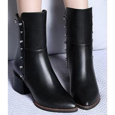 Amazing Pointed Toe Martin Flat Boots