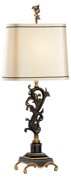 Scrolls Table Lamp, Black