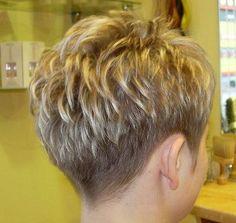 Short Hair Back, Chic Short Hair, Short Sassy Hair, Super Short Hair, Short Grey Hair, Short Hair With Layers, Short Hair Cuts For Women, Short Hairstyles For Women, Hairstyles Haircuts