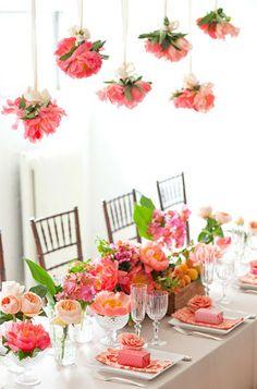 Inspiração para Casamento: Decoração Aérea com flores