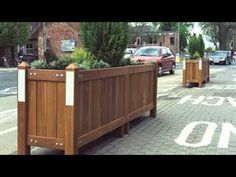 Wooden Bollards, Planters and Litter bins by Woodcraft UK