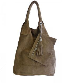Damen Schultertaschen - Wildleder SHWL1501