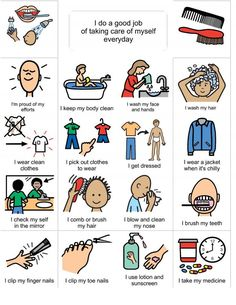 personal hygiene visual learner - Google Search