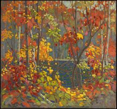 The Pool, 1915-1916, Tom Thomson, oil on canvas, National Gallery of Canada  Beautiful autumn colours.