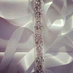 Rhinestone bridal belt for client