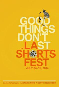 Film Festival Posters: LA Shorts Film Fest 2014 #shortfilmfestival