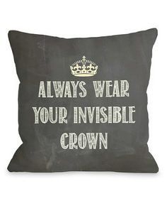 Look at this #zulilyfind! 'Invisible Crown' Pillow - Set of Two #zulilyfinds