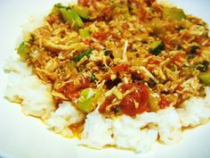 Stewed Chicken & Tomatoes over Rice 8 PP