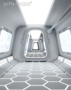 Captain Carswell Thorne's Spaceship Interior :) hallway