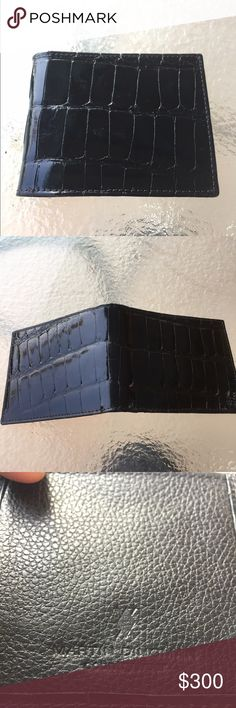 "Martin Dingman glazed alligator wallet Brand new Martin dingman ""Joseph"" American alligator front pocket wallet. Glazed finish and hand made in the USA. Martin Dingman Bags Wallets"