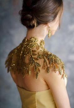 EMASA / gold dress Golden Exclusive Luxury Special Events Evening Maxi Dress Prom Wedding Golden Dress A Style Bridesmaid dress Wedding Dress Collar, Elegant Wedding Dress, Collar Dress, Wedding Dresses, Party Dresses, Shoulder Necklace, Golden Dress, Gold Collar, The Beach