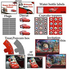 PERSONALIZED Disney Cars Birthday party Printable by BirthdayP, $20.00