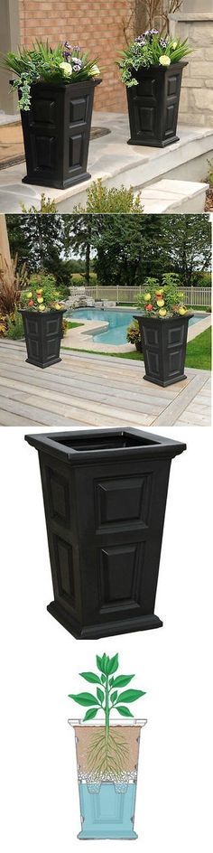 Baskets Pots and Window Boxes 20518: New England Planter 2-Pack, Self-Watering Tray, Black -> BUY IT NOW ONLY: $126.32 on eBay!
