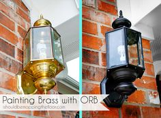 i should be mopping the floor: Painting Over Brass with Oil-Rubbed Bronze Paint {a tutorial}