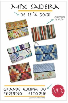Clutches upcycling by MIX. #themixbazar