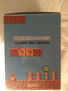 Game Boy Advance SP Classic NES Edition other lateral box.