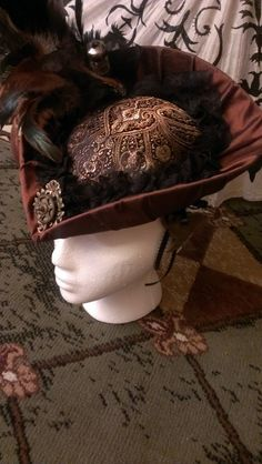 Steampunk victorian Lady's hat by PrudenceAllworthey on Etsy, $225.00