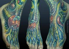 Tattoos : New : Durb, biomech foot Weird Tattoos, 3d Tattoos, Foot Tattoos, Arm Tattoo, Sleeve Tattoos, Tattoos For Guys, Tatoos, Unique Tattoo Designs, Unique Tattoos